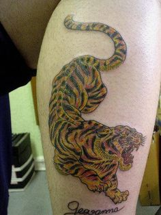 Awesome tiger images - Part 8 - Tattooimages. Small Music Tattoos, Friend Tattoos Small, Small Matching Tattoos, Small Back Tattoos, Unique Small Tattoo, Simple Arm Tattoos, Ankle Tattoo Small, Small Tattoos For Guys, Tiny Tattoo