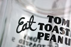 ViNTaGe GeNeRaL SToRe CouNTeR GLaSS JaR .  ToM'S ToaSTeD PeaNuTS. $125.00, via Etsy.