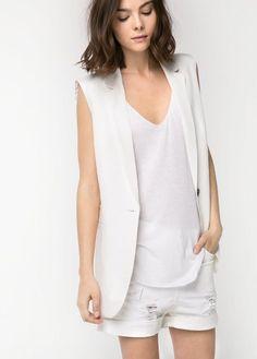 a8453cc95 Sartorial vest - Jackets for Women | OUTLET Colete Feminino Alfaiataria,  Colete De Alfaiataria,