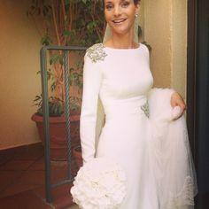 Vestido de novia, Manuel de Vivar, Madrid. Alta costura www.bodasytendencias.com