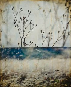"""In wildness is the preservation of the world"" - Thoreau Mixed media encaustic on board by Nichole deMent"