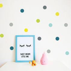 Wandtattoos - Konfetti Dots Wandsticker - ein Designerstück von lovelybird bei DaWanda