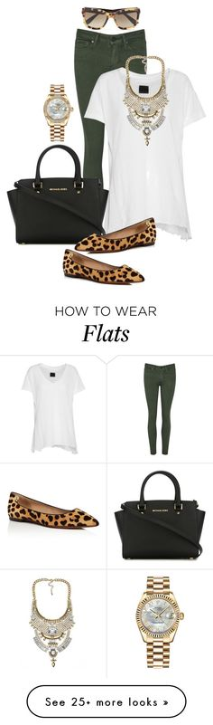 """""""Do it with Flats 3"""" by pure-vnom on Polyvore featuring RtA, MICHAEL Michael Kors, Tory Burch, Miu Miu, Rolex and doitwithflats"""