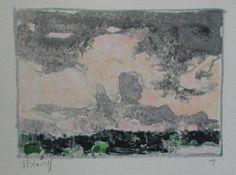 Dusk Haliburton Original Watercolor Monotype by Paintbox on Etsy