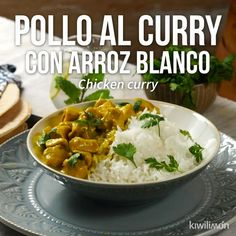 Video de Pollo al Curry con Arroz Blanco This delicious recipe for chicken curry, spiced and accompanied with white rice is an excellent option to cook something different at home. Tasty Videos, Food Videos, Cooking Recipes, Healthy Recipes, Oven Cooking, Cooking Icon, Cooking Torch, Cooking Fish, Cooking Salmon