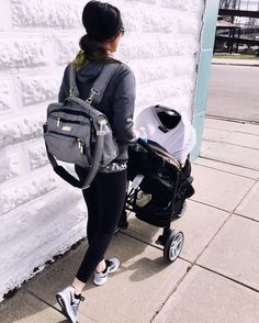 """Backwoods & Botox on Instagram: """"another look from yesterday. every new mama needs a @jujube_intl diaper bag, @gracokids jogging stroller & a @milksnob cover."""""""