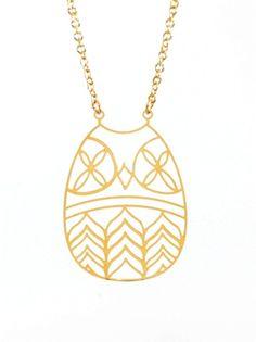 Kris Nations Owl Necklace