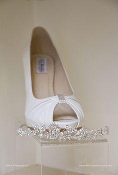 Elegant peep toed shoes from Cotswold Bride, Cheltenham