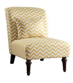 Yellow Zig Zag Accent Chair - Coaster 902019