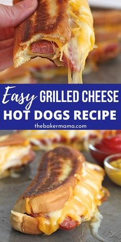 quick easy dinner Grilled Cheese Hot Dogs is a dynamic duo recipe. You have grilled cheese and hot dogs collide in this easy weeknight dinner recipe. A kid friendly recipe is loaded with flavor of cheese, hot dogs and a toasted bun. Dog Recipes, Grilling Recipes, Seafood Recipes, Cooking Recipes, Carrot Recipes, Lentil Recipes, Spinach Recipes, Healthy Recipes, Steak Recipes