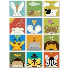 I've always loved these prints for a kid's room.  So adorable!