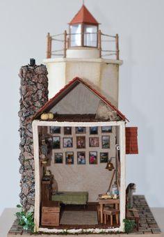 Дом у маяка.. – 35 фотографий Lighthouse, Advent Calendar, Miniatures, Holiday Decor, Home Decor, Bell Rock Lighthouse, Light House, Interior Design, Mockup