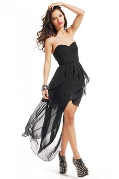 Corset Back Bustier High-Low Dress by ShopAKIRA | Lace Back Dress | ShopAKIRA.com