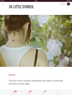 Really like this tattoo.. #backofneck #neck #compass #necktattoo