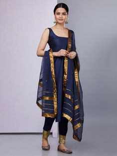 The Loom- An online Shop for Exclusive Handcrafted products comprising of Apparel, Sarees, Jewelry, Footwears & Home decor. Simple Kurti Designs, Kurta Designs Women, Kurti Neck Designs, Salwar Designs, Dress Indian Style, Indian Dresses, Ethnic Outfits, Indian Outfits, Pakistani Outfits