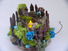 Miniture Fire Pit Fairy Garden Accesory by EnchantedHomes on Etsy