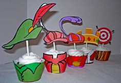 Robin Hood Cupcake Wrappers and Toppers. $7.00, via Etsy.