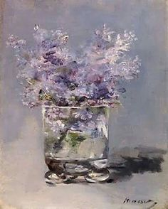Lilacs in a glass..Manuet