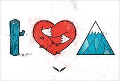 I Love Mountains poster  http://warnickart.com