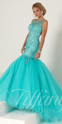 Elegant Open Back Mermaid Dress