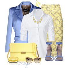 A fashion look from August 2014 featuring Steffen Schraut blouses, Just Cavalli blazers and STELLA McCARTNEY shoulder bags. Browse and shop related looks.