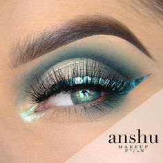 "7,463 Likes, 38 Comments - Makeup Geek Cosmetics (@makeupgeekcosmetics) on Instagram: ""@anshu_makeup used our shadows to create this Aquatic Mermaid look! Eyeshadows used: Time Travel,…"""