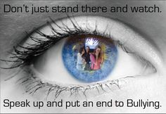 Don't just stand there and watch... Great posters from the NBHS Graphic Design/Photoshop classes!  Part of an anti-bullying poster contest.