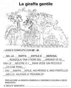 SCHEDA GI - GE GINA LA GIRAFFA GENEROSA CL PRIMA