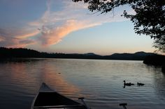 Evening at Rollins Pond. Happiest in the world. Doesn't hold a candle to Disney World.