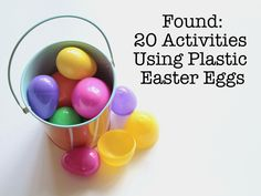 20 Activities Using Plastic Easter Eggs, from Modern Parents Messy Kids Easter Activities, Activities For Kids, Crafts For Kids, Easter Games, Spring Activities, Group Activities, Daily Activities, Holiday Fun, Holiday Crafts