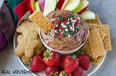 This 5-minute Brownie Batter Dip is loaded with chocolate and is the perfect addition to any holiday dessert table!