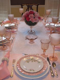 Tablescape Times Three: The Pinkest Party on Earth!