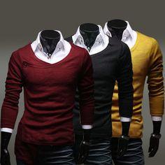 Men's Retro Asymmetric Access Design Slim Casual Cardigan Sweater - US$11.98 sold out