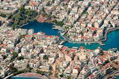 Agios Nikolaos Crete Xenia Hotel, Places In Greece, Crete Island, Santorini Greece, Birds Eye View, Greece Travel, Greek Islands, Beautiful Islands, Aerial View