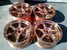 copper wheels. Oh man yes please!