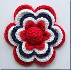 Crochet flower pattern - free English translation included