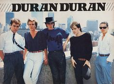 Duran Duran one of my faves on my wall back in the day.