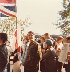 Me, aged eighteen, on the N.F. Anti Communist March, 1978.
