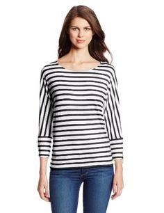 Calvin Klein Women's Three-Quarter Sleeve Dolman Tunic Shirt With Zips $24.83