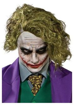 Why so serious? Add a few smiles to the Gothom with this The Joker Wig. This makes the perfect accessory to any Joker costume.