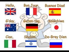 Hello To All The Children Of The World - YouTube Children's Day Activities, Multicultural Activities, The World Song, My Father's World, Around The World Theme, Kids Around The World, Preschool Songs, Kids Songs, Teach Preschool