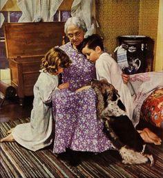 Vintage - Giving Thanks with Grandma (1949)