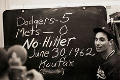 Sandy Koufax no-hits the Mets, 5-0. The first of his four career no-hitters.