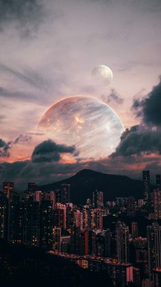 Alien Planet City - IPhone Wallpapers