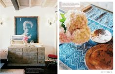 Obsessed with that card catalog-style dresser.     Lonny August 2012 | Lonnymag.com