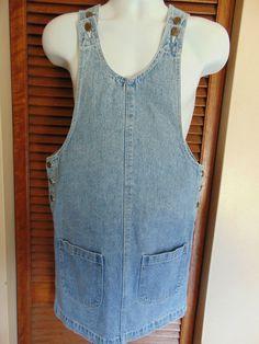 JeanWorks Womens Sz Small 36  Hip Denim Knee Length Western Jean Dress