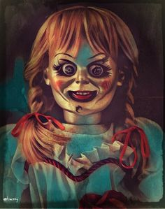"""""""Annabelle"""" Horror Movie Art : The Conjuring Horror Party, Halloween Horror, Halloween Makeup, Scary Movies, Horror Movies, Annabelle Horror Movie, Dessin Game Of Thrones, Annabelle Doll, Creepy Clown"""