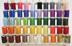 NEW 50 Cones Poly Embroidery Thread Brother  Babylock Colors 40wt 550yards from ThreadNanny for Brother  Babylock Embroidery Machines like PE700 PE700II PE750D PE770 PE780D SE270D SE400 Innovis 1000 Innovis 1200 Innovis 1250D PC6500 PC8200 PC8500 And New Babylock Ellure Emore and NEW Esante * Check out this great product.