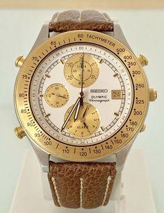 Lovely Seiko Olympic 7T42-7A50 vintage japan Seiko Diver, Olympics, Japan, Vintage Men, Clock, Japanese