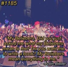 :') So sweet! And back at you Justin, I could write a book about you, because you mean everything to me.
